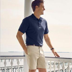 L.L. Bean blue short sleeve pima cotton polo shirt